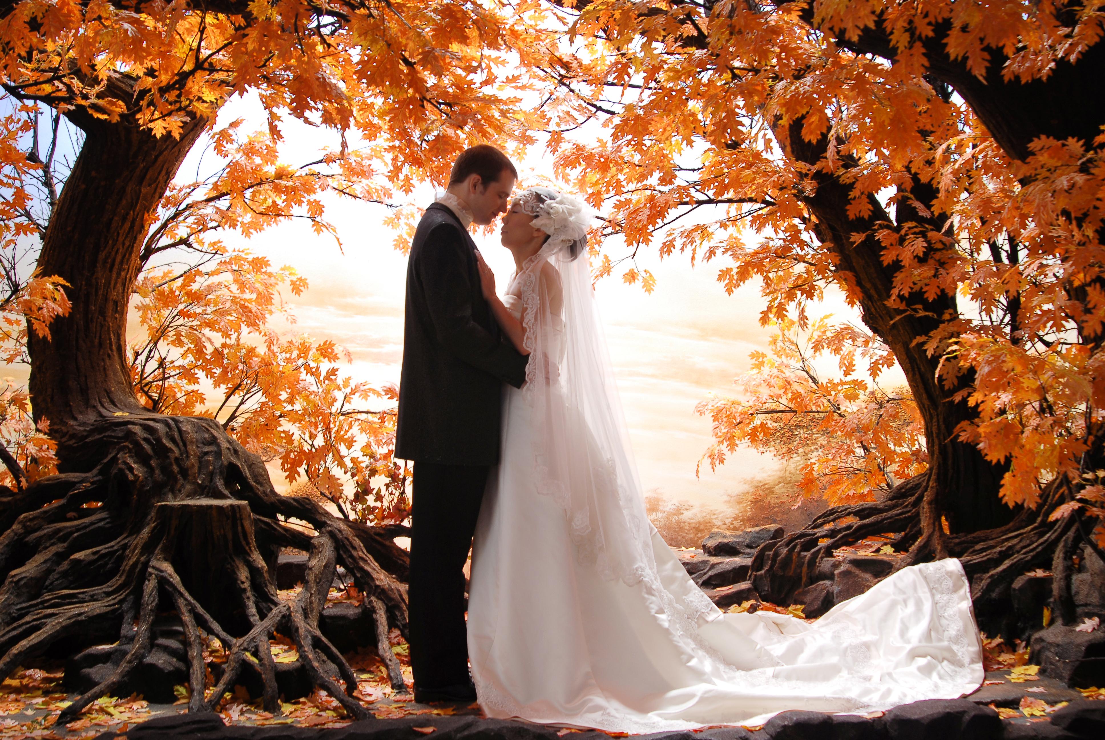 Свадебное фото идеи осенью