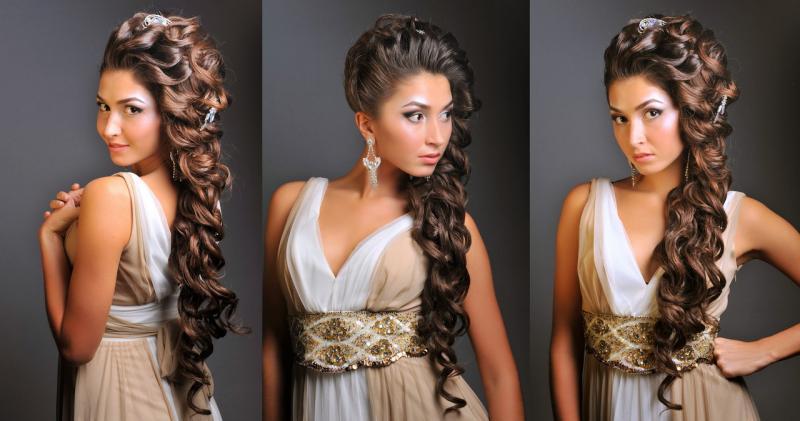 Прическа на новый год для длинных волос