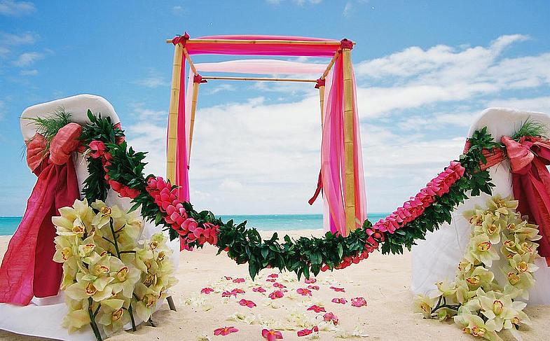 Свадьба в стиле гавайской свадьбы